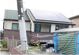 熊本地震で被害を受けた住宅(地震後)